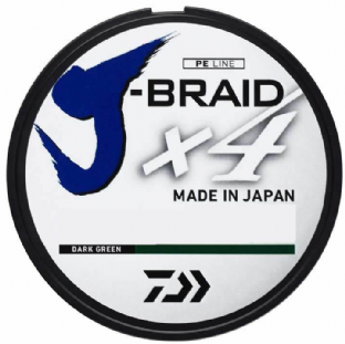 Daiwa J-Braid x4 - 135m Dark Green
